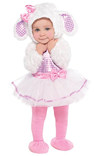 Infant Sized Little Lamb Costume 0-6 Months (Cute Little Girl Halloween Costumes)