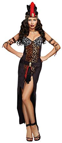 Dreamgirl Womens Religious Voo Doo Priestess Black Ultra Suede Fancy Costume, XL (Voo Doo Mask)