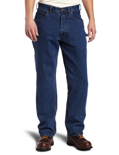 Heavyweight Cotton Denim Work Jeans - Key Apparel Men's Big-Tall Heavyweight Relaxed Fit Enzyme Wash Ring Spun Denim Dungaree, Denim, 44x32