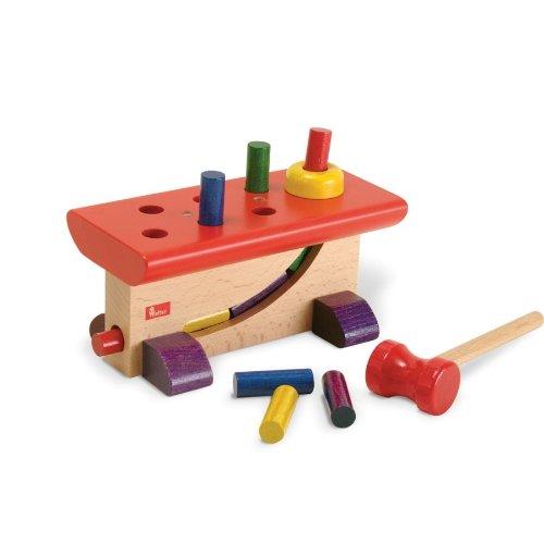 Klopfspiel ''Haus-Raus'' German Wooden Hammer Peg Toy