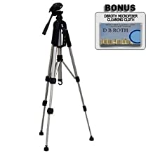 """Deluxe Pro 57"""" Camera Tripod with Tripod Carrying Case For The Pentax K-3, K-50, K-500, Q7, MX-1 Digital SLR Cameras"""