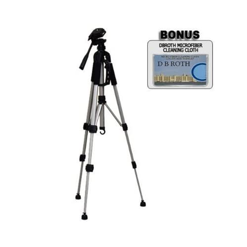 """Deluxe 57"""" Camera Tripod with Carrying Case For The Sony DCR-SR42, SR45, SR46, SR47, SR62, SR65, SR67, SR82, SR85, SR87, SR200, SR220, SR300, SX40, SX41, SX60 Camcorders"""