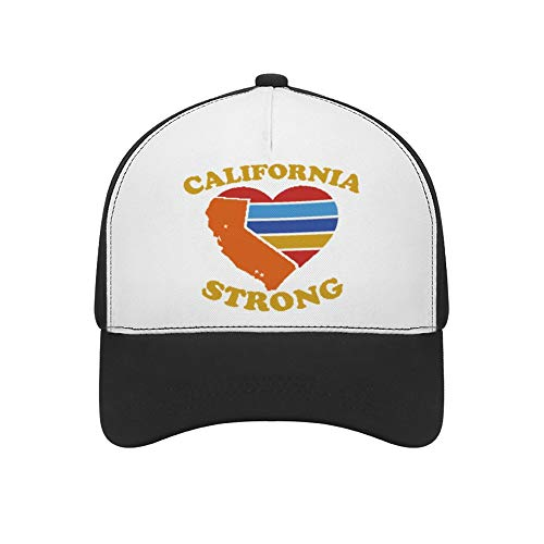 Feng Xiaoli California Strong California Wildfire Mesh Trucker Hat Square Patch Baseball Caps Adjustable Strapback Cap Black]()