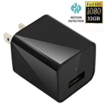 CAMAKT 1080P HD USB Wall Charger Hidden Spy Camera/Nanny Spy Camera Adapter | 32GB InternalMemory