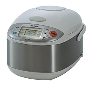 Zojirushi NS-TGC10 Micom 5-1/2-Cup Rice Cooker and Warmer, Stainless Steel