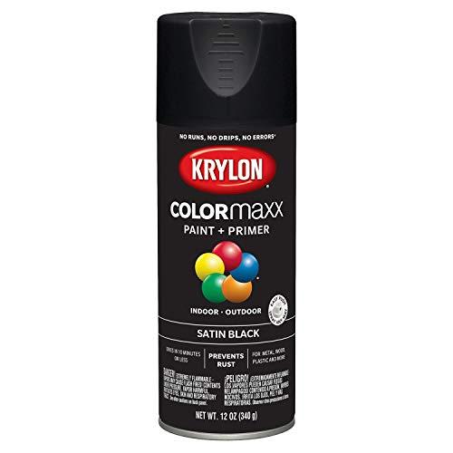 Krylon K05557007 COLORmaxx Spray Paint, Aerosol, Black (Acrylic Paint Spray)