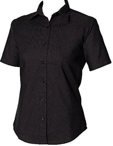 Homme Forme Oxford Classique Latérales À New Pour En Noir Manches Femme Coutures Courtes Coton Henbury De 6gYqn