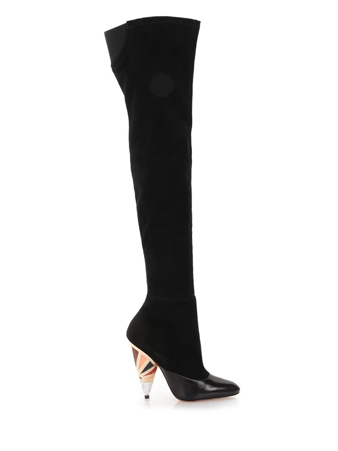 GIVENCHY WOMEN'S BE09105178001 BLACK SUEDE BOOTS