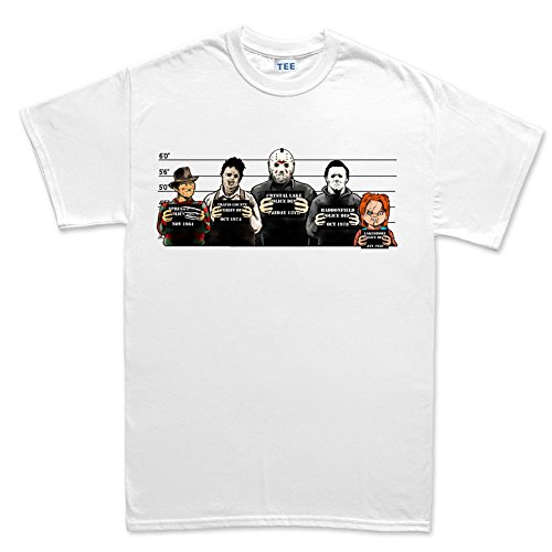 Customised_Perfection The Usual Horror Suspects Halloween T Shirt WHT L