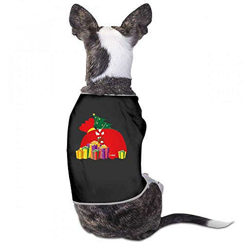Pet Clothes Christmas Pet Clothes Pet Dog Clothes Merry Christmas Dogs Summer Vest Costumes Fashion T-Shirt Breathable Sleeveless Summer - (Sky Blue, Gray, Yellow, Black) (Merry Wayne Lil Christmas)