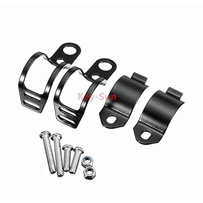 Sun-Key 1pair Retro Motorcycle Universal Modified Turn Signal Light Bracket Fork Mount Clamp Indicator Holder 30-45mm (Black): Automotive