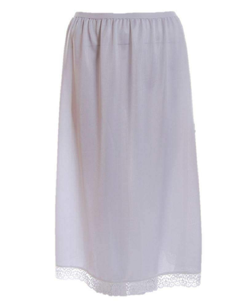 "ladies embroidered poly cotton 27/"" half  slip petticoat underskirt 12-26"
