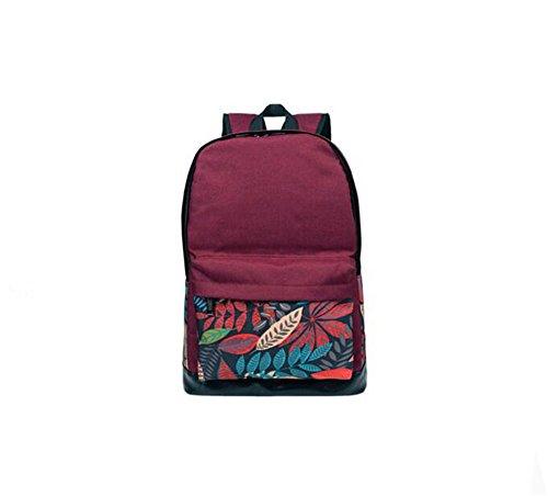 Anne - Bolso mochila  de Lona para mujer negro verde Red