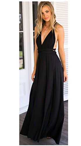 Women's Long Maxi Dress Convertible Wrap Cocktail Gown Dress Bandage Bridesmaid Dress