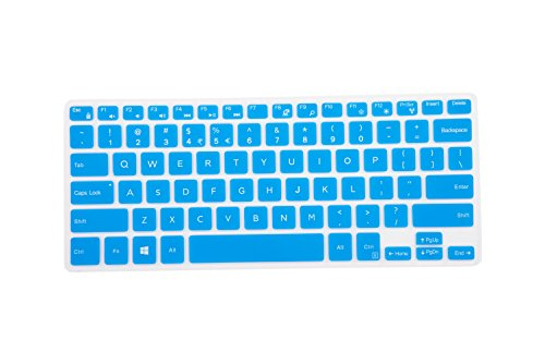 Leze - Ultra Thin Silicone Laptop Keyboard Cover Skin Protector for 11.6 Dell Inspiron 11-3162 11-3168 11-3169 11-3179 i3162 i3168 i3169 i3179 Laptop - Blue