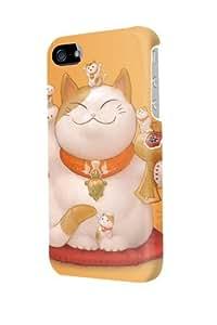 ip40631 Maneki Neko Lucky Cat Glossy Case Cover For Iphone 4/4s by Maris's Diary