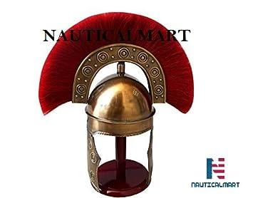 Casco mediano de estilo militar romano, metálico, talla única, para la mayoría de