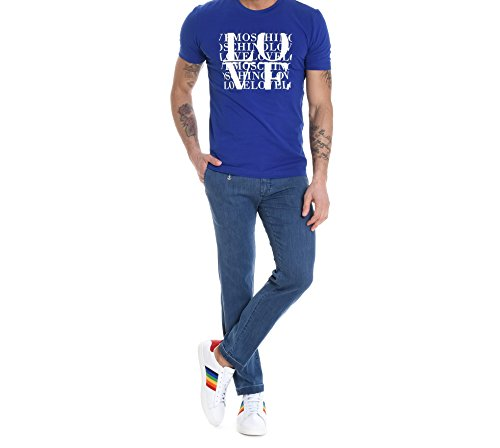 Love Moschino Men's M473171e1811y53 Blue Cotton T-Shirt by Love Moschino (Image #1)