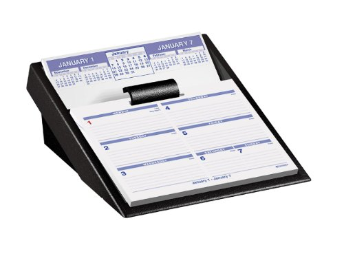 (AT-A-GLANCE Flip-A-Week Brand Desk Calendar and Base, 5 x 8 Inches, Black, 2011 (SW700X-00))