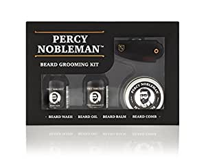 Beard Grooming Kit by Percy Nobleman - A Beard Oil, Wash, Balm & Comb Gift Set For Men. Proudly Made in England by Europe's Leading Beard Grooming Brand.