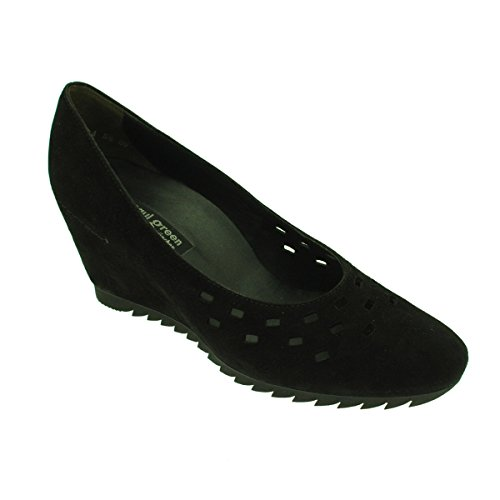 Paul Green Wedge Court Black Suede