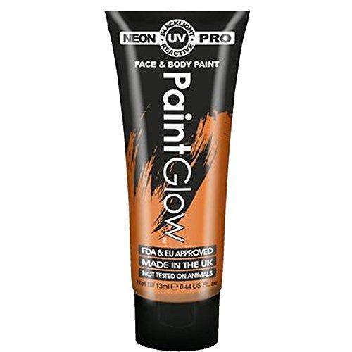 Paint Glow Pro Neon UV Face & Body Paint - UV Orange 13ml -