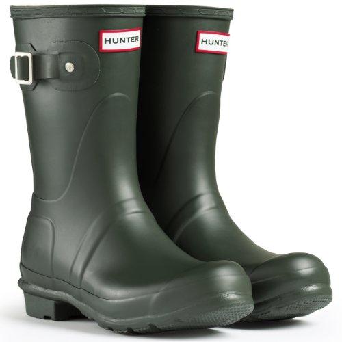 Mens Hunter Wellington Boots Original Short Rainboots Sno...