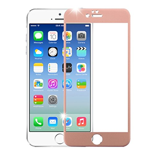 iPhone 6s/6 3D Curved Edge Titanium Alloy Tempered Glass Screen Protector/Rose Gold