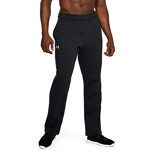 Under Armour UA Rival Fleece 2.0 Team XL Black Cotton Fleece Straight Leg Pant