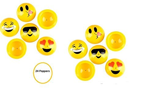 (24) Assorted EMOJI POPPERS ~ Adorable Assorted ~