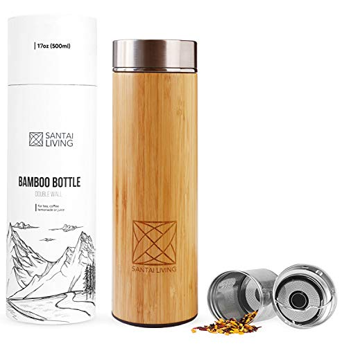 Bamboo Vacuum Insulated Bottle Stainless product image