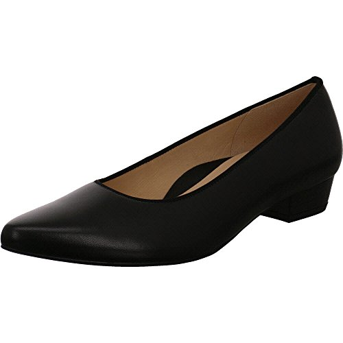Ara Leather Heels (Ara Women's Peggy Ballet Flat Black Leather 7.5M)
