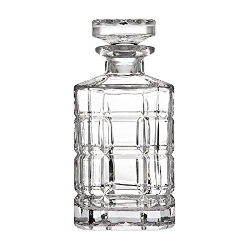 Godinger Plaid Whiskey Decanter, 25 oz, (Godinger Lead Crystal)