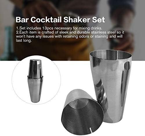 13pcs Stainless Bar Cocktail Shaker Set Barware Kit for Bartender Drink Party