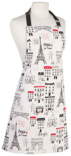 Now Designs Paris Je Taime Basic Cotton Kitchen Chef's Apron
