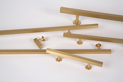 Lew's Hardware Bar Series - Solid Brass Cabinet Knobs and Pulls (16'' Centers/24'' Overall) by Lew's Hardware (Image #2)