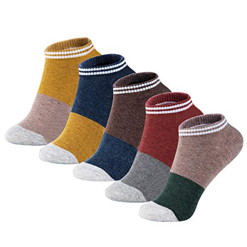 Socks Women Crew Casual Socks Low Cut Ladies Cotton Comfort Athletic Socks by MAGIARTE (mixed join color 5 pairs)