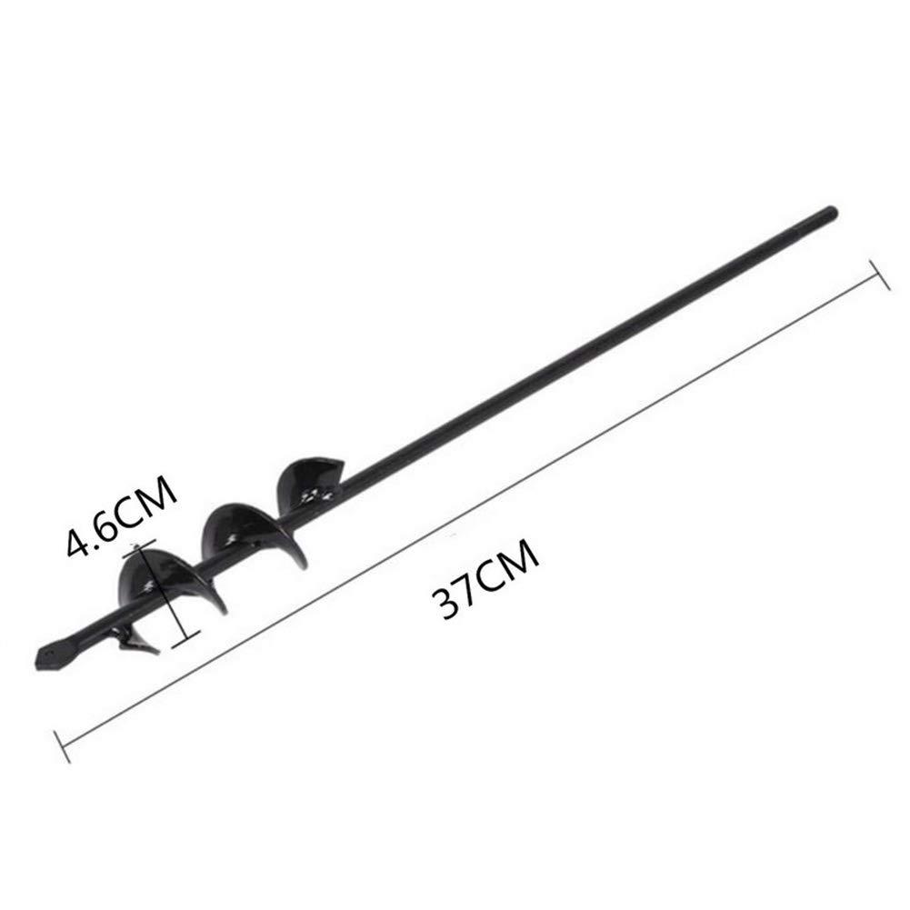 Broca de Repuesto para Ahoyadora Taladro de Mano Excavadora Cultivador de Suelo Broca en Espiral para Jard/ín Dia-4.6cm, L-37cm Jard/ín Barrena Broca de tierra para Plantar Bulbos De Cama Pl/ántulas