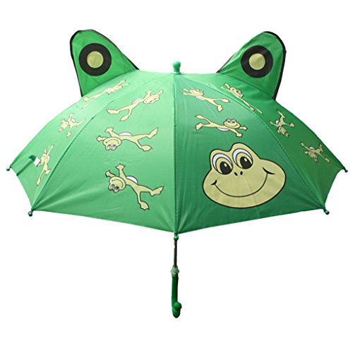 Fashionista Kids Animal Umbrella Sun Rain Protection Windproof (Leaping Frog) by Fashionista Kids