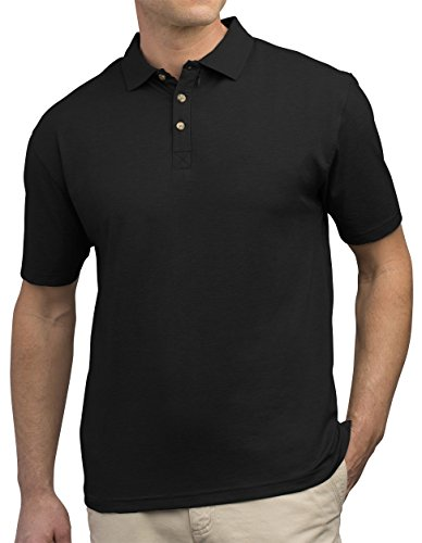 SCOTTeVEST Bamboo Polo - 3 Pockets - Travel Clothing, Pickpocket Proof BLK L