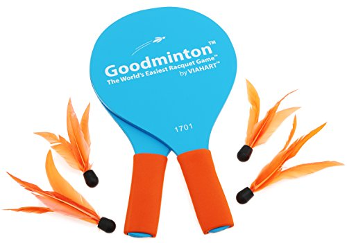 Goodminton | The World's Easiest Racket Game | An Indoor Outdoor Year-Round Fun Racquet Game for Boys and Girls | Gift Box Packaging