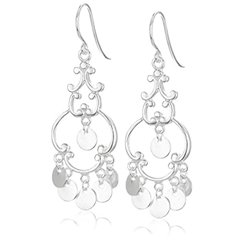Sterling silver chandelier earrings amazon polished sterling silver french wire drop earrings aloadofball Images