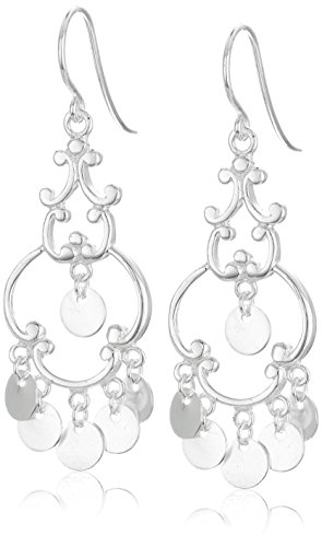 Collection Chandelier Earrings - Polished Sterling Silver French Wire Drop Earrings