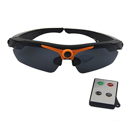JOYCAM Polarized Sunglasses Camera Video Recording UV400 Glasses HD 720P DVR Eyewear Camcorder with Remote Control ()