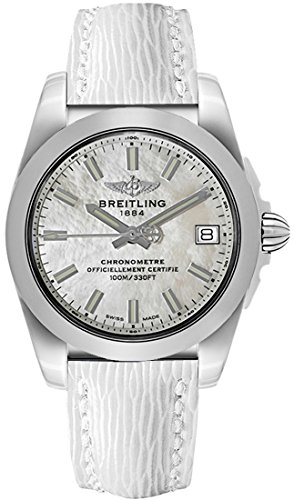 Breitling Galactic 36 White Mother of Pearl Dial with White Calfskin Leather Strap Women's Watch W7433012/A779-236X
