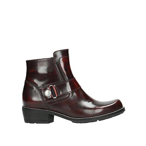 Polished Bottines nbsp;Gila 0525 Burgundy Leather 30510 Wolky dSXqUnCq