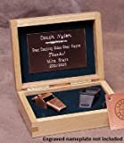 Bronze Colored Brass Award Whistle with Safe-T-Tip in a Wooden Gift Box. Made in the USA!