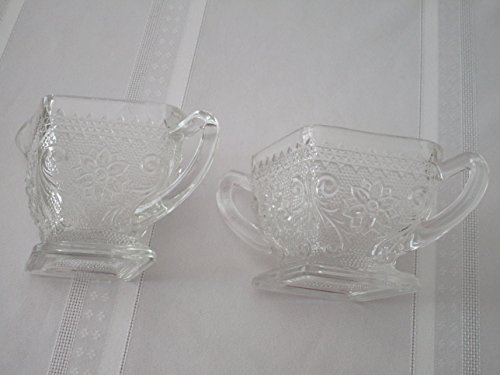 - Vintage Indiana Sandwich Sugar and Creamer