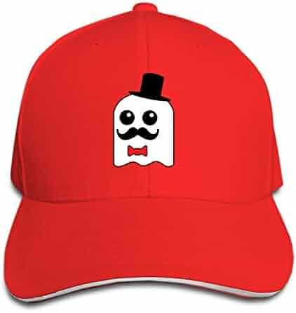 19571889353 iloue Classy Ghost Flat Brim Hats Snapback Cap Plain Caps for Men Women