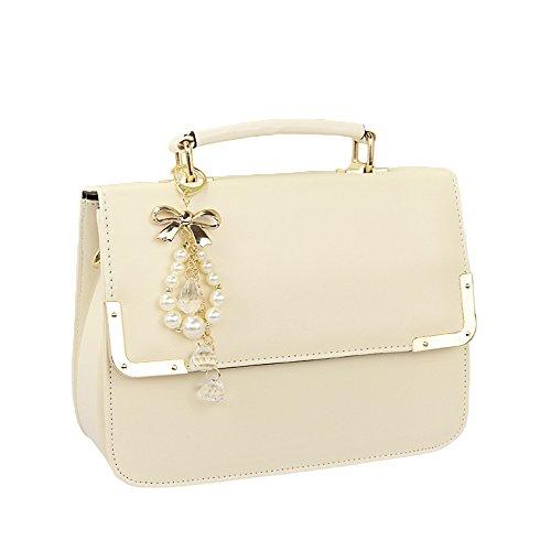 Abody Fashion Women Shoulder Bag Candy Color Metal Corners Satchel Messenger Handbag